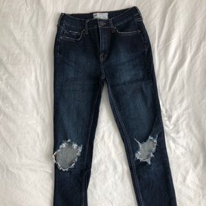 Free People Busted Knee High Waisted Jeans
